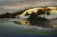 winter sundown by dennis sheehan