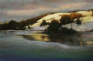 winter sundown by dennis sheehan