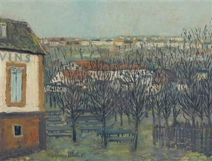 la butte pinson a montmagny by maurice utrillo