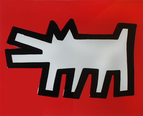 icons 3 barking dog authenticated by keith haring