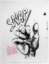 untitled (snap...), from plots on loan i by raymond pettibon