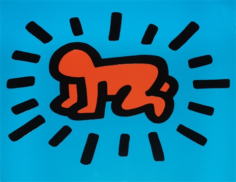 icons #1: radiant baby (authenticated) by keith haring