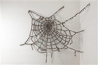 untitled cobweb (knots and crossing) by reena saini kallat