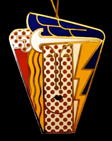 modern head brooch by roy lichtenstein