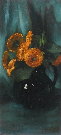 untitled still life (chrysanthemums) by elizabeth l. boott