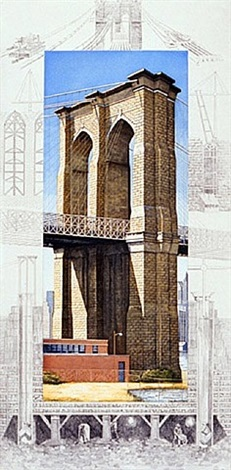 brooklyn bridge by richard haas