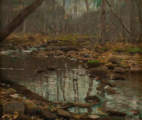 shadows in a pool by william bliss baker
