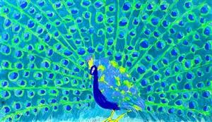 peacock ii by walasse ting