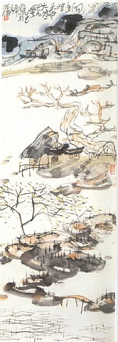 winter landscape by li huasheng