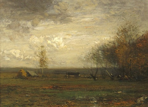 landscape with haystack by john francis murphy