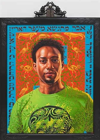 uriel lubasya (the world stage: israel) by kehinde wiley