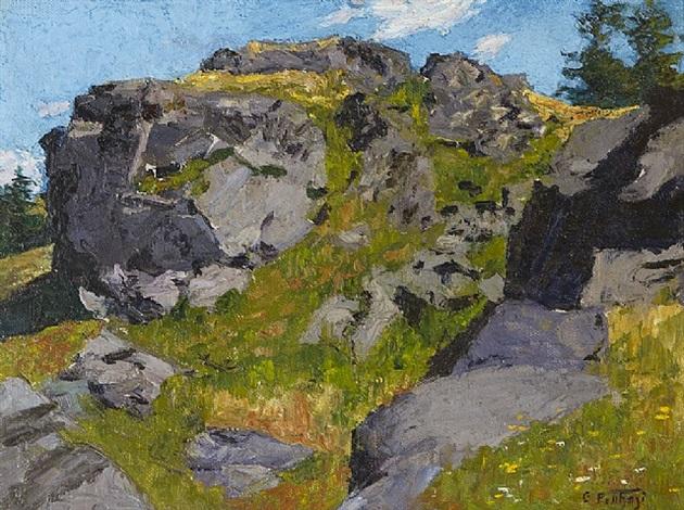 rocky pasture by edward henry potthast