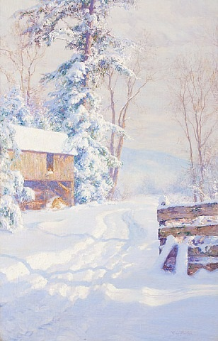 winter morning by walter launt palmer