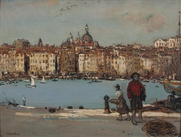 the harbor, marseille by jean françois raffaëlli