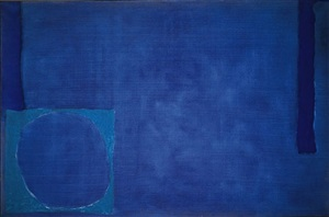 cobalt with ceruleum and ultramarine by patrick heron