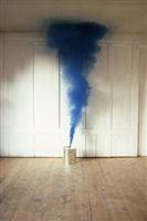 blauer rauch by roman signer