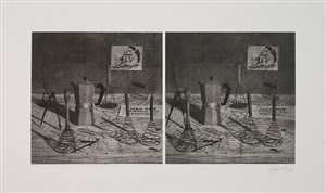 still life (from stereoscopic portfolio) by william kentridge