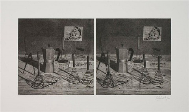still life (from stereoscopic portfolio) by william kentridge