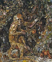 green monkey, after george stubbs by vik muniz