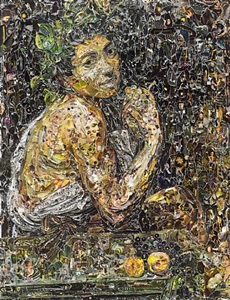 sick bacchus, after caravaggio by vik muniz