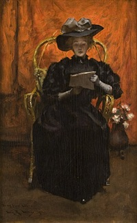 lady in black: the red room by irving ramsey wiles