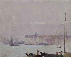 on the lagoon, venice by soren emil carlsen