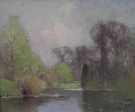spring landscape by soren emil carlsen