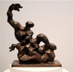 study for prometheus: maquette no. 1 by jacques lipchitz