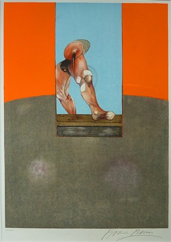 study for a bullfight - centre panel by francis bacon