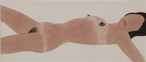 american study of a female nude (open ended nude) by tom wesselmann