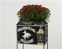 jack daniel's flower pot with conceptual chance by daniel gonzalez