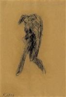 little whist self-portrait by ronald brooks kitaj