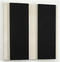 zwei rechteckige blocke auf weiss by gerhard von graevenitz