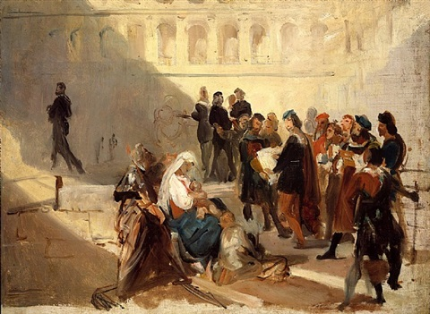 raphael at the vatican by emile jean horace vernet