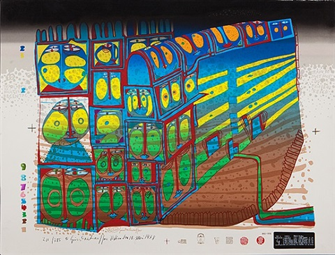 night train by friedensreich hundertwasser