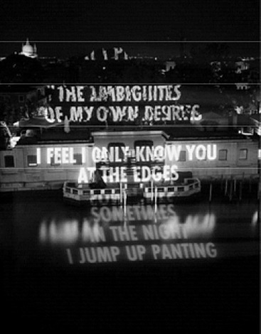 the ambiguities of my desires by jenny holzer