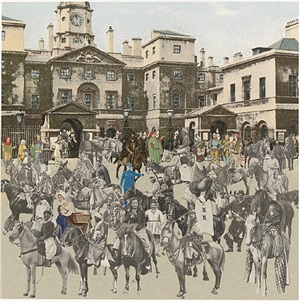 horse guards parade- horses and horsemen by peter blake
