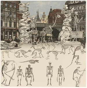 ludgate circus- day of the skeletons by peter blake