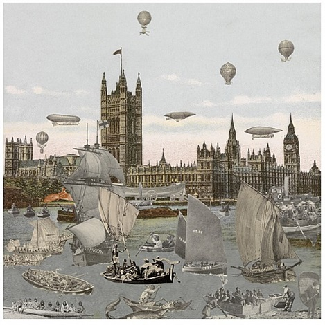 river thames- regatta by peter blake