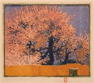 green gate orchard by gustave baumann
