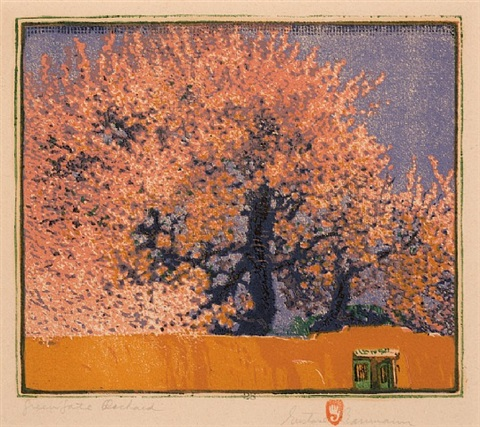 green gate orchard by gustave baumann