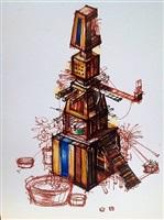 de la serie 'arquitecturas híbridas y construcciones mentales' by simón vega