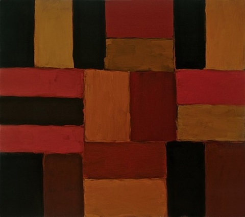 wall of light, deep red by sean scully