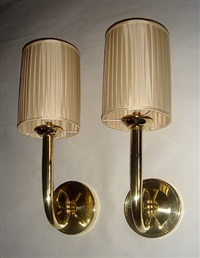 paire d'appliques / pair of wall-lights by jean pascaud