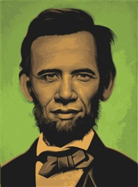 abraham obama (green) by ron english