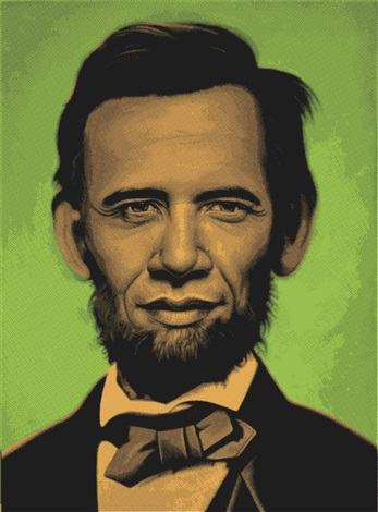 abraham obama green by ron english