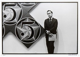 robert indiana with x5 by william john kennedy