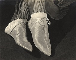 gold lame evening shoes by ilse bing