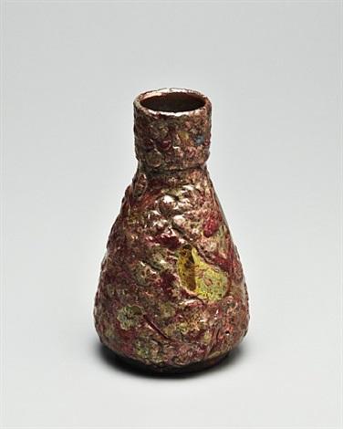 volcanic luster glaze vase by honoré delphin massier