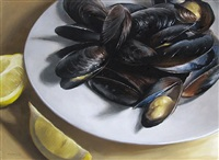 mussels with lemon (sold) by michael naples